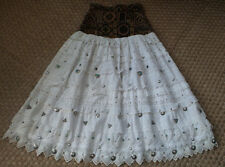 Vtg Country Western Lace Eyelet cowgirl Skirt Farouche, Uomo E Donna  lined