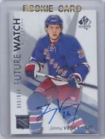 JIMMY VESEY 16-17 2016-17 UD FUTURE WATCH AUTO RC 865/999 #152 NEW YORK RANGERS