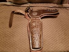 Johnny Ringo cap gun Double Holster  Western  1950s Tooled Leather Ornate