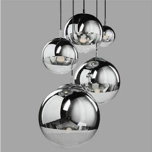Moderne Glaskugel Decke Licht Pendelleuchte Lampe Decke Leuchte Kronleuchter H