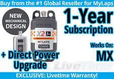 MyLaps X2 MX (Motocross) Direct Power Transponder w/ 1-year Subscription -AMB