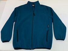 Speedo Fleece Jacket Mens Small Full Zip Fleece Teal Green