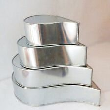 "4 Tier Tear Drop Multilayer Wedding Cake Tins 6"" 8"" 10"" 12"""