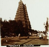 INDE Tanjore Temple Brihadesvara, Photo Stereo Plaque Verre ca 1910