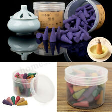 80 Pcs Box Incense Cones Sticks Mixed Scents Fragrance Burner Relax Aromatherapy