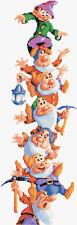 "Snow White -The Seven Dwarfs - Tall Disney Cross Stitch Kit 18"" x 7"" Free P&P"