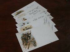 More details for original set of six early harry payne signed tuck military postcards - brit navy