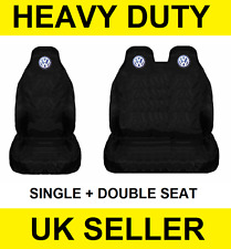 VOLKSWAGEN CRAFTER Van Seat Covers Protectors 2+1 100% WATERPROOF BLACK - NEW
