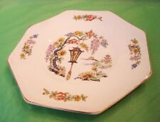 Exceptional ANTIQUE FORD CHALLINOR HAND PAINTED? PLATE Floral Vine w/ BIRD CAGE