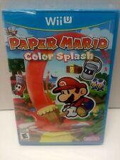 Paper Mario Color Splash Nintendo  Wii U. Factory Sealed!!!