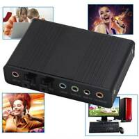USB 5.1 Channel External Optical Audio Fiber Sound Card S/PDIF for PC Karaoke
