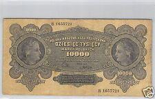 POLOGNE 10 000 MAREK 11.3.1922 N° B 1655721 PICK 32