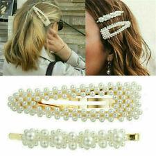 2PCS Fashion Girl Pearl Hair Clip Hairband Comb Bobby Pin Barrette Hairpin HS69