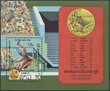 LAOS Bloc N°78** jeux olympiques Los Angeles 1984 Lutte, olympic games Sc#528 NH