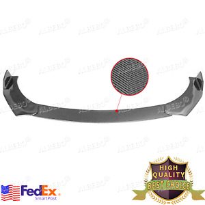 Carbon Fiber Car Front Bumper Lip Chin Side Winglet Splitter Body Universal Kit