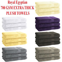 3 PIECE SET 700 GSM ROYAL EGYPTIAN PLUSH COTTON TERRY BATH TOWEL BATHROOM SHEET