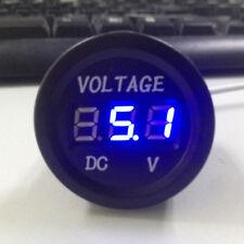 Blue 12V 24V DC Waterproof Car Motorcycle LED Digital Display Voltmeter Volt New