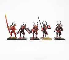 WARHAMMER FANTASY ARMY DAEMONS OF CHAOS BLOODLETTERS PART PAINTED  DOC21