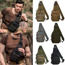 Men Molle Tactical Sling Chest Bag Assault Pack Messenger Shoulder Backpack US