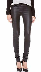 Helmut Lang Real Leather Leggings Uk 10 Skinny Trousers Rrp £700 Rare