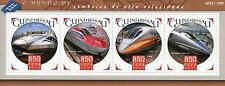 Guinea-Bissau 2015 MNH High-Speed Trains 4v M/S Shinkansen Railways Stamps