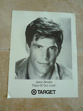 Jason Brooks Day of Our Lives 8x10 Fan Club Photo Picture Page