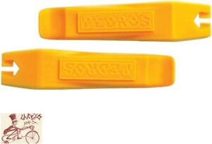 PEDRO'S YELLOW TIRE LEVERS BICYCLE TOOL--2 PACK