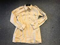 WW2 British Army Khaki airtex 2 pocket shirt - repro - 16 collar