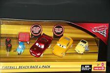 "DISNEY PIXAR CARS 3 ""FIREBALL BEACH RACE 4-PACK"" NEW IN PACKAGE, SHIP WORLDWIDE"