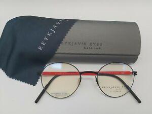 REYKJAVIK EYES black label VILI gunmetal eyeglasses glasses frame + case  *NEW