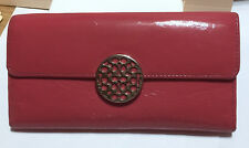 COACH - CORAL COLOR - PATENT LEATHER TRI-FOLD WALLET