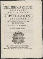 Peste Porto di Messina cronaca dei provvedimenti per evitare il contagio 1743