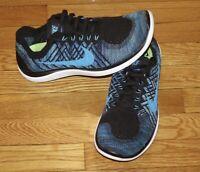 Nike Free 4.0 Flyknit Men's 10.5 Black/Blue 717075-004