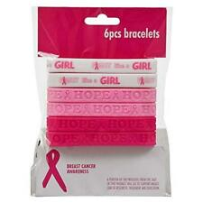 2 Dozen Dazzling Toys Breast Cancer Awareness Pink Bracelets Pack of 24