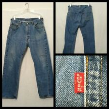 Levi 501 Red Line USA Jeans Men's Selvage Measured 36X31 Single Stitch Inv#F4924