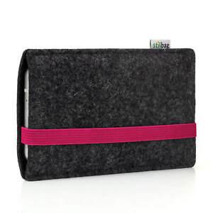 Filztasche LEON für Apple iPhone 11 - anthrazit/pink (Handytasche, Hülle)