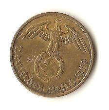 1938D Nazi 5 Reichspfennig - KM91 - VF