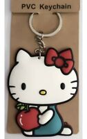"Hello Kitty With Apple Keychain PVC 2"" Anime US Seller"