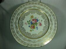 Atlas China New York ATS9 Dinner Plate Floral Center 22K Gold Garlands & Scrolls