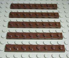 Lego Platte 1x8 Dunkelbraun 5 Stück                                        (338)