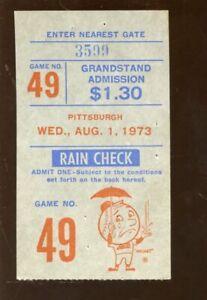 August 1 1973 New York Mets Ticket Stub Tom Seaver 4 Hit Shutout 11 K's