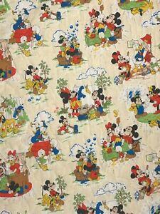 Vintage Walt Disney Productions Comforter Mickey & Friends Blanket Donald Duck