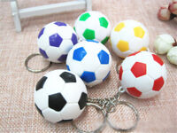 Sports metal Keychain Car Key Ring Football Soccor ball Pendant Keyring PPJU