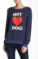 NWT WILDFOX Hot Dog Long Sleeve Pullover XS