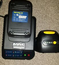 Macallister 12v batteries 1.5ah x 2 and charger