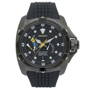 Seiko Velatura SRH013 P1 Kinetic Direct Drive Black Retrograde Date Men's Watch