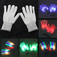 Light up LED Gloves Rave Glow Finger Kids Toy Gift for Xmas Dance Party Birthday