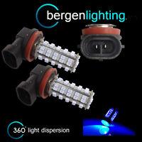 2X H11 BLUE 60 LED FRONT FOG SPOT LAMP LIGHT BULBS HIGH POWER KIT XENON FF500701