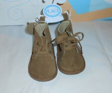 The Childrens Place Infant Boys Faux Suede Soft Shoe Boots Brown 3-6M NWT