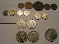 schwedische Münze Schweden 1 2 5 10 25 50 Öre 1 Krone 5 Kronen 1950-1999 Silber